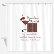 CHOCOLATE MARTINI Shower Curtain