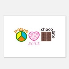 PEACE LOVE CHOCOLATE Postcards (Package of 8)