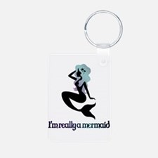 I'm really a mermaid silhouette Keychains