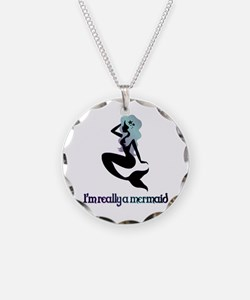 I'm really a mermaid silhouette Necklace