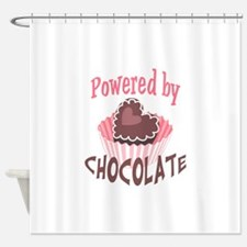 POWERED BY CHOCOLATE Shower Curtain