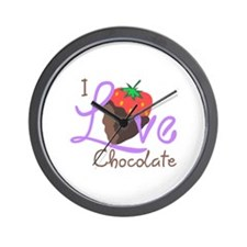 I LOVE CHOCOLATE Wall Clock