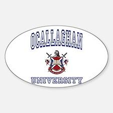 OCALLAGHAN University Oval Decal
