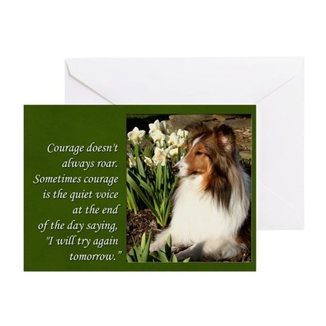 Sheltie Courage Cards (Pk of 10)