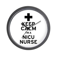 Keep Calm NICU Nurse Wall Clock