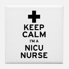 Keep Calm NICU Nurse Tile Coaster
