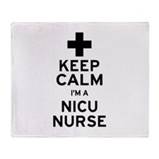 Keep Calm NICU Nurse Throw Blanket