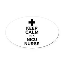 Keep Calm NICU Nurse Oval Car Magnet