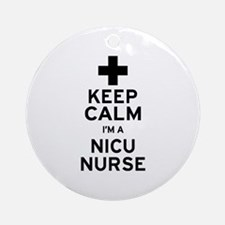Keep Calm NICU Nurse Ornament (Round)