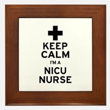Keep Calm NICU Nurse Framed Tile