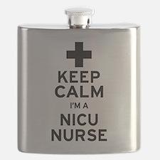 Keep Calm NICU Nurse Flask