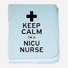 Keep Calm NICU Nurse baby blanket
