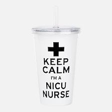 Keep Calm NICU Nurse Acrylic Double-wall Tumbler