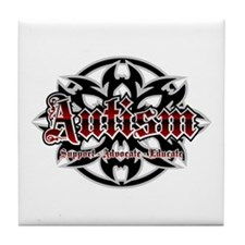 Autism Tribal Tile Coaster