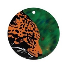 Leopard Ornament (Round)