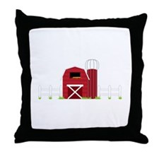 Farm Barn Throw Pillow
