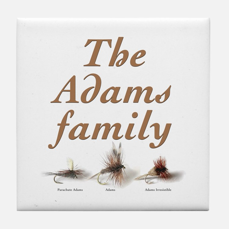 The Adams family fishing fly Tile Coaster