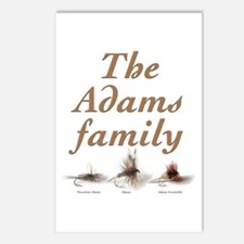 The Adams family fishing fly Postcards (Package of