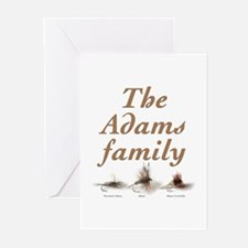 The Adams family fishing fly Greeting Cards (Pk of