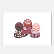 STACKED CHOCOLATES Postcards (Package of 8)