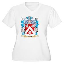 Monk Coat of Arms - Family Crest Plus Size T-Shirt