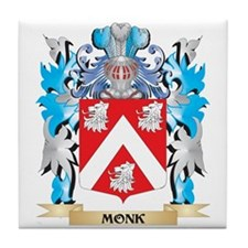 Monk Coat of Arms - Family Crest Tile Coaster