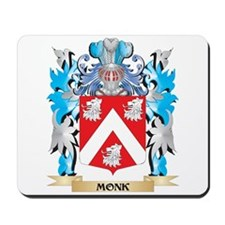 Monk Coat of Arms - Family Crest Mousepad