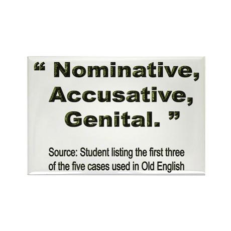 Nominative, Accusative, Genital Rectangle Magnet