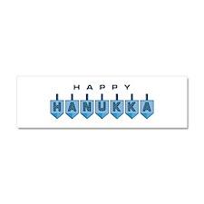 Happy Hanukkah Car Magnet 10 x 3