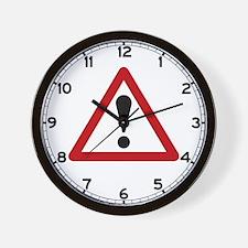 General Warning Sign, UK Wall Clock