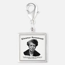 Eleanor: Confidence Silver Square Charm