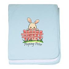 PEEPING PETER baby blanket