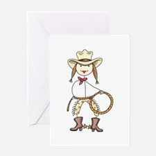 Cow Girl Greeting Cards