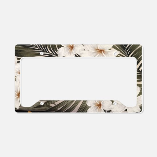 Natural Hawaii Tropical License Plate Holder