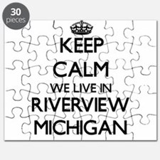 Keep calm we live in Riverview Michigan Puzzle