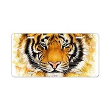 Artistic Tiger Face Aluminum License Plate