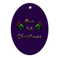 Our 1st Christmas Gift Oval Ornament