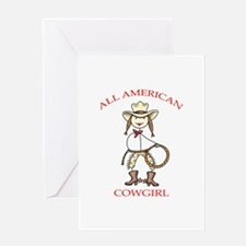 ALL AMERICAN COWGIRL Greeting Cards