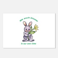 BUNNY WITH FLOWER Postcards (Package of 8)