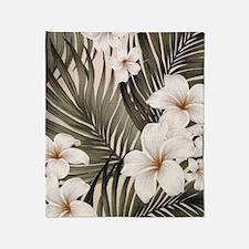 Hibiscus Hawaii Retro Aloha Print Throw Blanket