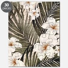 Hibiscus Hawaii Retro Aloha Print Puzzle
