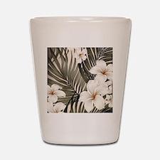 Hibiscus Hawaii Retro Aloha Print Shot Glass
