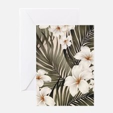 Hibiscus Hawaii Retro Aloha Print Greeting Card