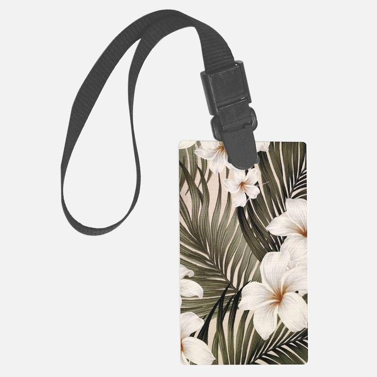 Hibiscus Hawaii Retro Aloha Prin Luggage Tag