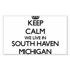 Keep calm we live in South Haven Michigan Decal