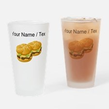 Custom Cheeseburgers Drinking Glass