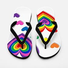 A Rainbow For My Valentine Flip Flops