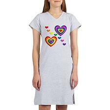 A Rainbow For My Valentine Women's Nightshirt