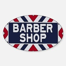 Old Time Barbershop Decal