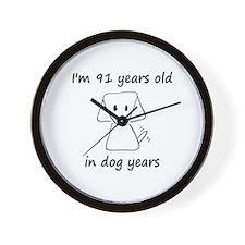 13 dog years 6 - 2 Wall Clock